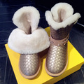 High Quality genuine Sheepskin Real Fur 100% Wool women winter snow boots women waterproof brand shoes woman bottine fourrure
