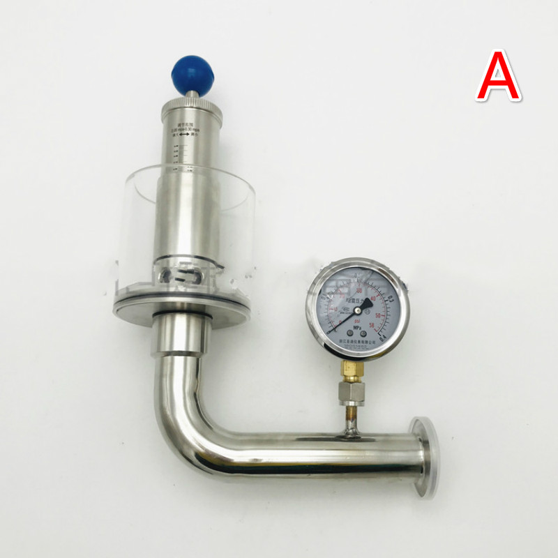 50 5mm clamp flange 0-3 Bar Adjustable Vacuum Pressure Relief Safety Valve  Sanitary SUS 304 Stainless