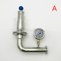 50.5mm clamp flange 0 3 Bar Adjustable Vacuum Pressure Relief Safety Valve Sanitary SUS 304 Stainless