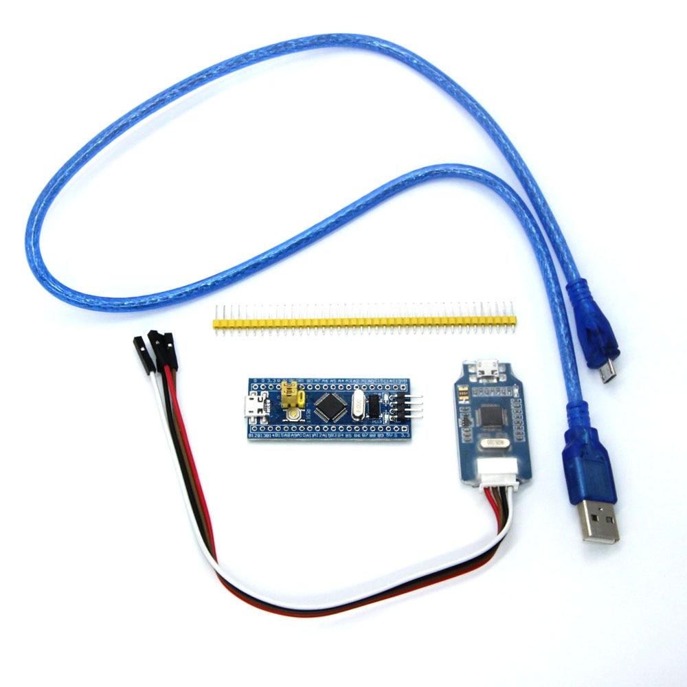 1set=STM32F103C8T6 ARM STM32 Minimum System Development Board + J-link OB ARM emulator debugger jlink programmierer downloader sc1 stm32f103c8t6 arm hikit development board smart home w5500 ethernet network module