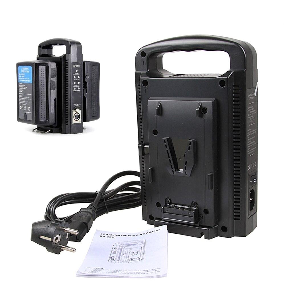 V support de batterie BP-2CH Double Rapide Chargeur De Batterie et Adaptateur secteur pour 14.4 V/14.8 V v-mount Batterie Sony BP-95W BP-150W BP-190W