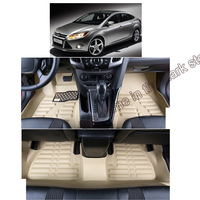 fast shipping fiber leather car floor mat for ford focus 2011 2012 2013 2014 2015 2016 2017