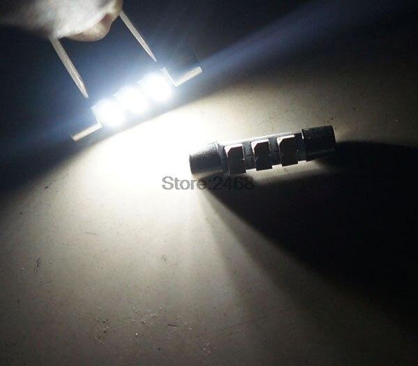 2PCS White LED 29mm 5050 3SMD Fuse Vanity Mirror Light Bulb For 6641 TS-14V1C