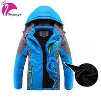 Children Outerwear Warm Coat Boys Girls Jackets Double Deck Waterproof Windproof Thicken Winter Jacket For Boys