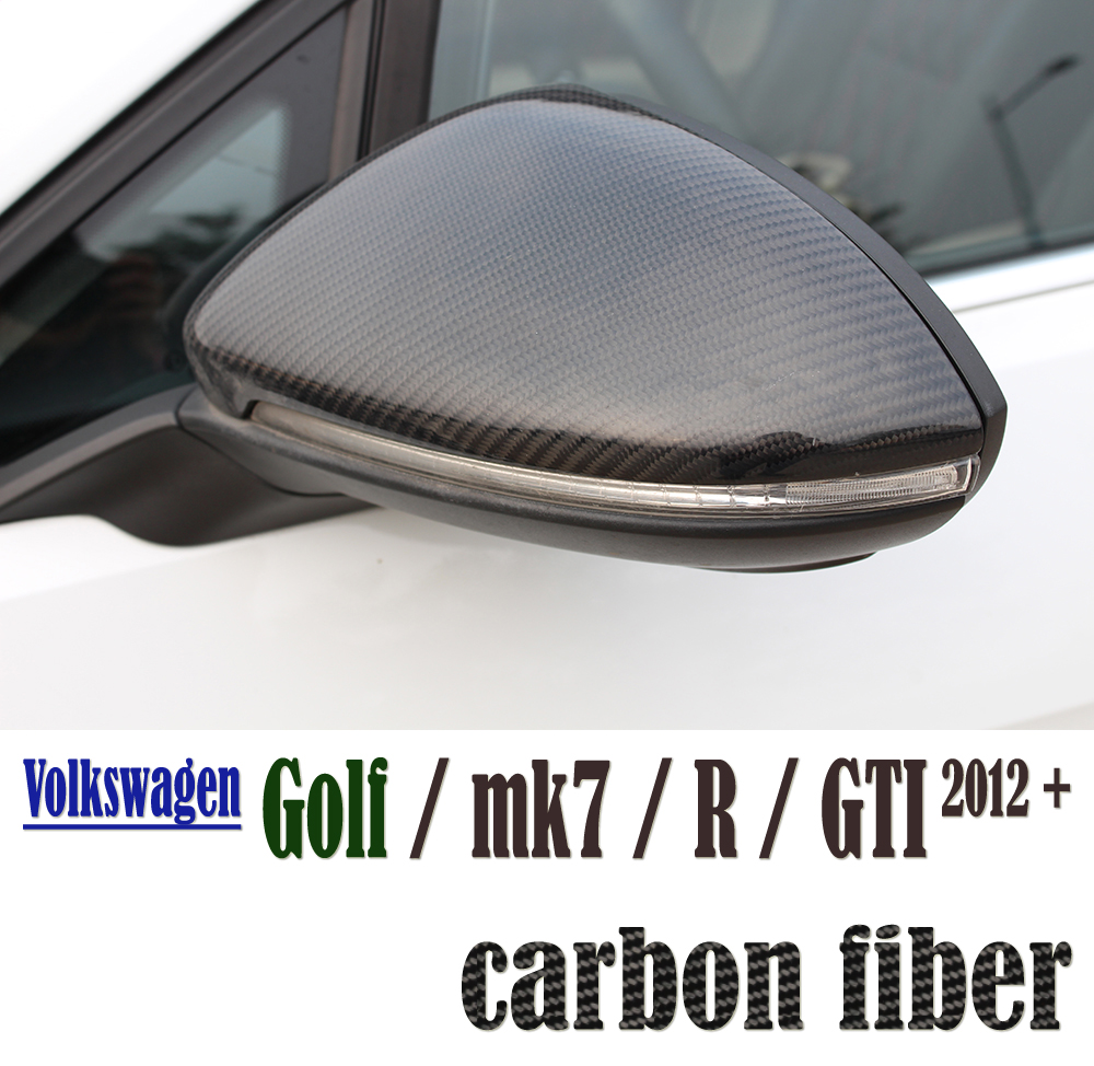 Carbon Fiber Vw Golf Mk7 Door Side Wing Mirror Covers For
