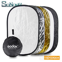 GODOX 59x79 150x200cm 5 in 1 Multi Disc Photography Studio Photo Oval Collapsible Light Reflector handhold portable photo disc