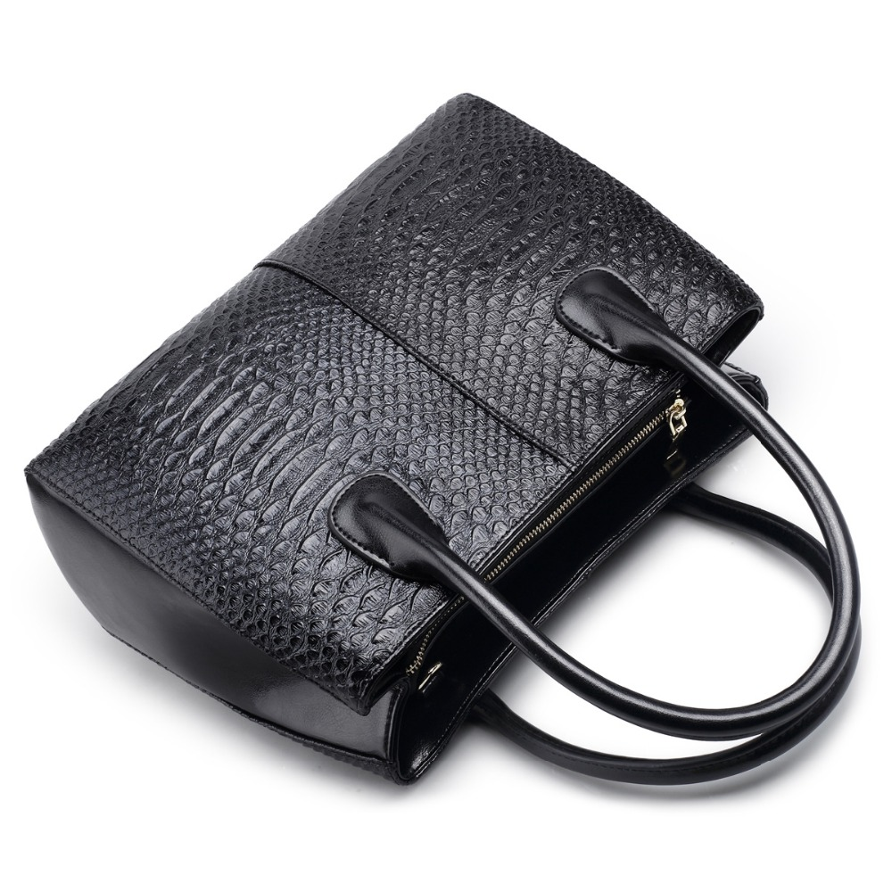 Luxury Genuine leather Women Handbag Serpentine Shoulder Tote Bag Casual Ladies Leisure Crossbody Hand Bags luxury genuine leather bag fashion brand designer women handbag cowhide leather shoulder composite bag casual totes