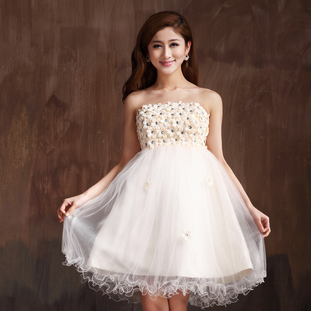 White Maternity Tube Top Dresses