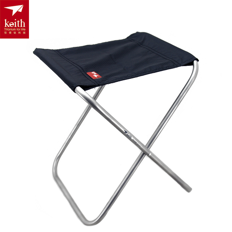 Keith Titanium Chair Folding Chair Camping Chair 247g Ti2501 the silver chair