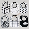 (3pcs/lot) Hot Milk Bottle/Batman/Clouds/Cross Fashion Baby Bibs,Burp Cloths Lunch Bibs Baby Bibs