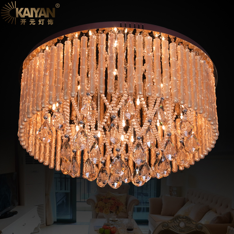 Classic European Crystal Ceiling Hanging Lights Luxury Modern Top Mounted Foyer Study Bedroom Dining Room Dome Lighting Lamps the ivory white european super suction wall mounted gate unique smoke door