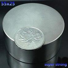 1 adet N52 neodimyum mıknatıs 55x25 süper güçlü mıknatıs kalıcı neodimyum yuvarlak güçlü balıkçılık manyetik nadir toprak disk