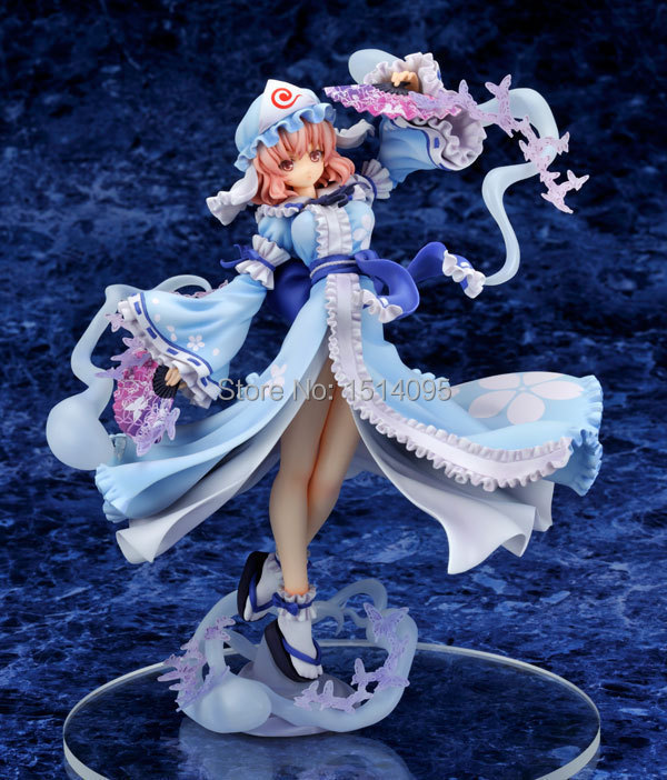 Sexy Girl Anime Griffon Touhou Project Saigyouji Yuyuko PVC Action Figure Collection Model Toy 23cm SG047 союзмультфильм набор детских стаканов 3 шт