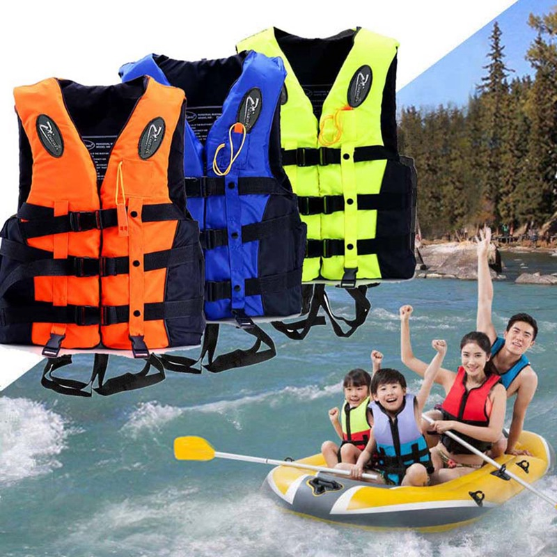 zwemvest kinderen fessional Life Vest Children Adult Reflective Adjustable Waistcoat Jacket with Whistle for Drifting