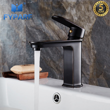 FYPARF 1set Brass Body Bathroom Basin Faucet Single Handle Bath Sink Tap Deck Mounted Cold and Hot Water Mixer Sink Faucet Tap стоимость