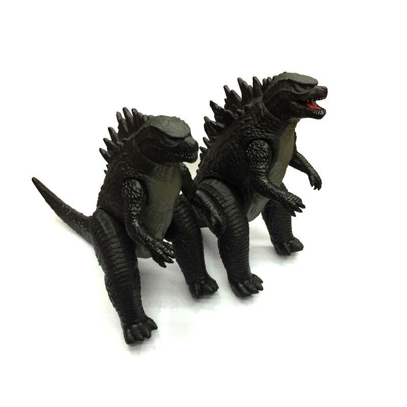 2pcs/set Cartoon Anime Gojira Movie Ultraman Dinosaur Monsters Action Figure Collectible PVC Model Children Gift
