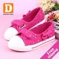 Novo 2017 moda meninas primavera outono crianças lona tamancos tamancos de borracha plana meninas shoes casual marca crianças sapatilhas tamanho 25-37