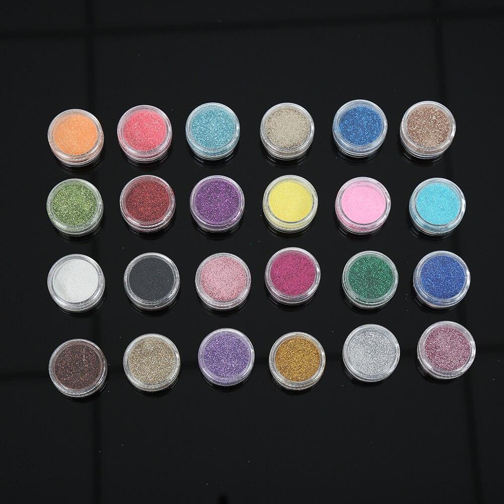 24 Mix Nail Art Shell Glitter Mini Beads Confetti Rhinestone Tips DIY Decoration In Wheel конфеты ягодные жевательные mini tv mix 110 гр