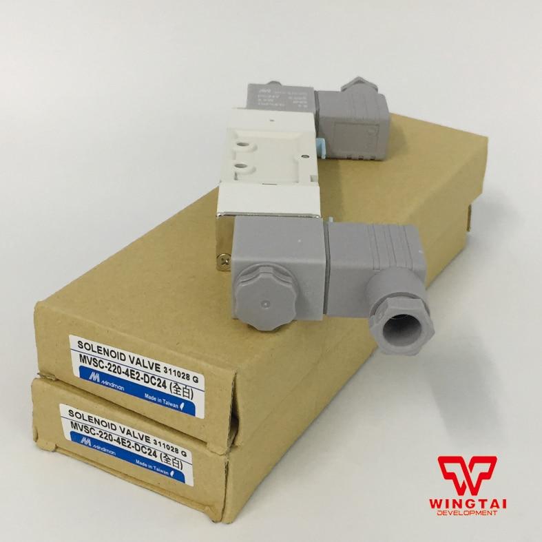 Mindman Aluminium alloy Pneumatic Solenoid Valve MVSC-220-4E2 DC24V new and original mvsc 300 4e1 dc24v ac220v mindman solenoid valve