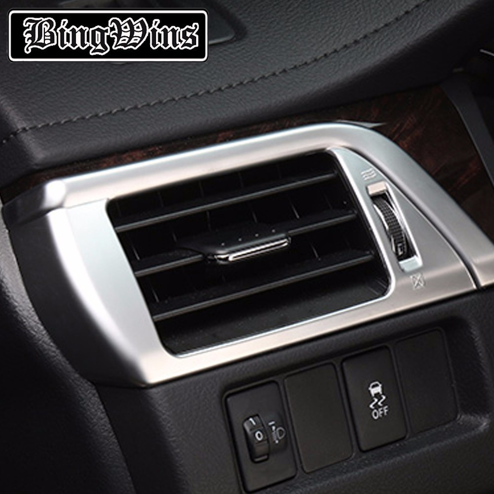 Car styling Instrument Table Dashboard Both Sides Air Outlet Cover Trim Air Outlet Vent Decorate For Toyota Camry 2012-2016