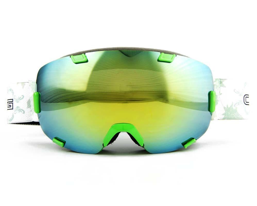 2016 Профессиональный Кадр Снег Лыжи Лыжные Очки Двойной Двойной Линзы Лыжные Сани Зимой Очки Сноуборд Очки Анти туман UV400 зеленый