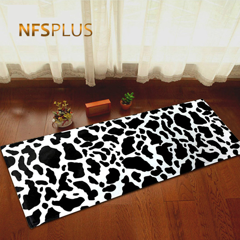 Leopard Print Kitchen Carpet Floor Mat Anti Fatigue