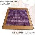 NEW Product Purple mesh 4CM jade stone heating massage mattress Far-infrared Heat Therapy Healing Jade Mat/Pad/Mattress 1.2X1.9M