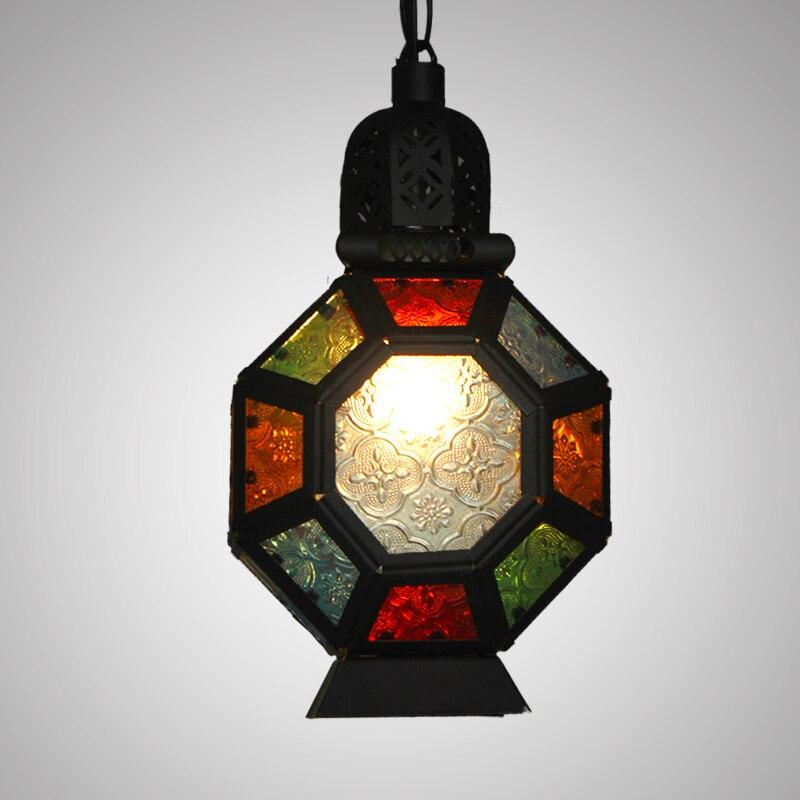 Bohemia pendant lights colorful coffee tree lights Mediterranean Southeast Asia bar small pendant lamps single head lighting ZA
