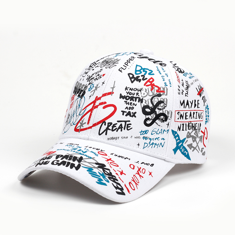 2018 brand Summer Baseball Cap Graffiti Sun Caps Hip Hop Visor Spring Hat Adjustable Snap-back Hats For Women golf caps(China)