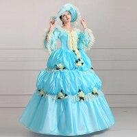 Vintage European Court Dress Aristocrazy Court Dress Queen Court Uniform Halloween Make Up Party Dress Ball Gown
