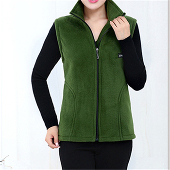 UHYTGF 2018 New Fleece Women Vests Autumn Korean Plus size Sleeveless Jackets Ladies Fashion Zipper Casual Waistcoat Female 442 10