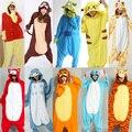 Free Shipping New Adult Pajamas Cosplay Cartoon Animal Onesie Sleepwear Cat Tiger Stitch Bear Panda Dog Unicorn