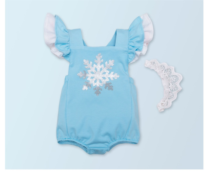 Cheap Sale 50-57cm Reborn Baby Dolls Clothes Blue Romper Snow Flower Printing Fashion Suit For Children Lovely Accessories Bonecas Gift Superior Materials Dolls & Stuffed Toys Back To Search Resultstoys & Hobbies