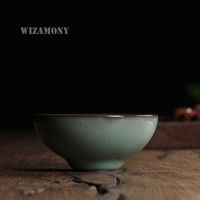 Chinese Rare Longquan Top Grade Celadon China Teacup Tea Bowl70ml Iron Body Master Cup For Art Collection By Great Artist Teapot