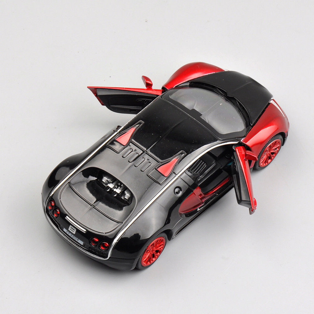 1/32 Diecast Car Collection Alloy Kid Gifts Bugatti Veyron Car Model Light&Sound