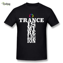 цена на Pure Cotton Male A STATE OF TRANCE T-shirt O-neck Design T-Shirts Fashionable Tee Nice Short-sleeved Plus size