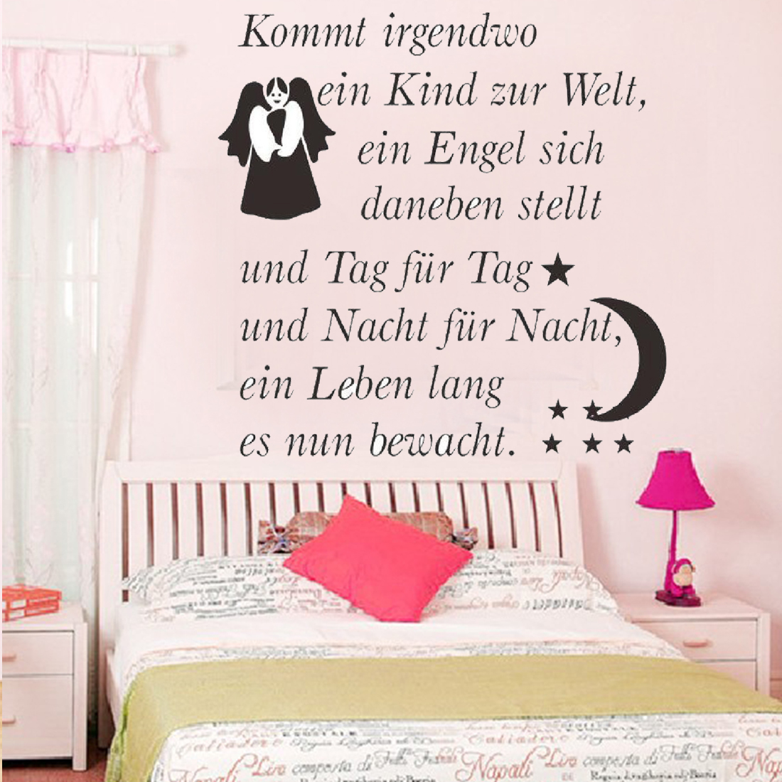 new hot sale diy removable wallpaper german kommt letters wall stickers kids home decoration