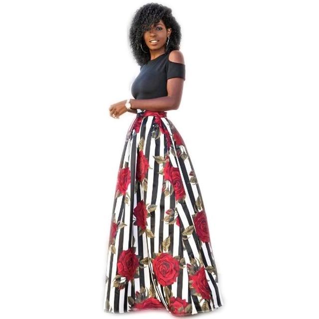 93374f620 Women Cold Shoulder Boho Maxi Dress Summer Short Sleeve Top Floral Print 2  Piece Long Dresses Plus Size Robe Longue Femme 5XL