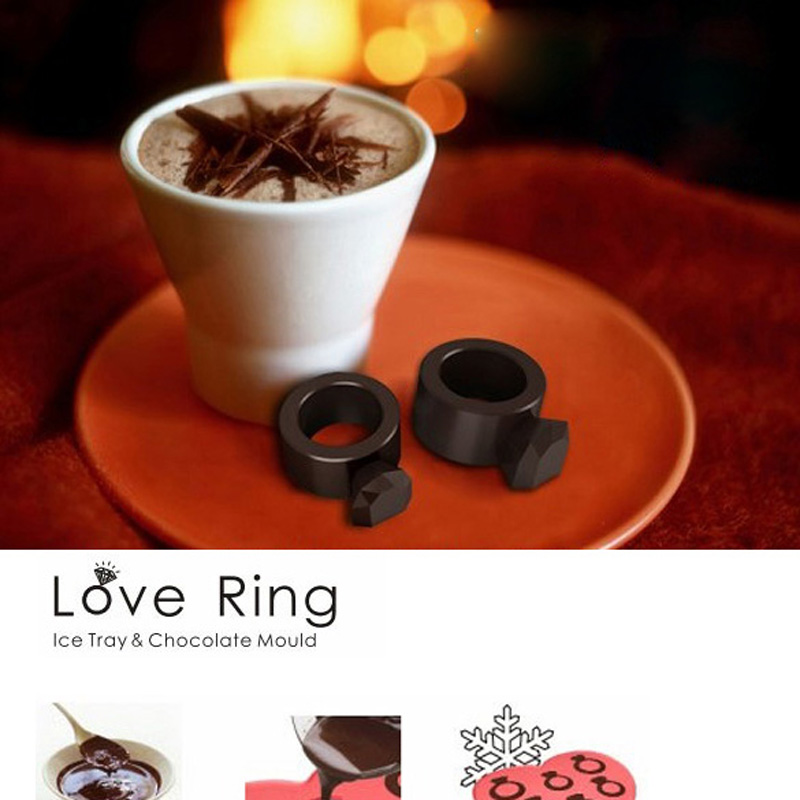1Pcs High Quality FashionIce Tray Diamond Love Ring Ice Cube Style Freeze Ice Mold Ice Maker Mould(Random Color)