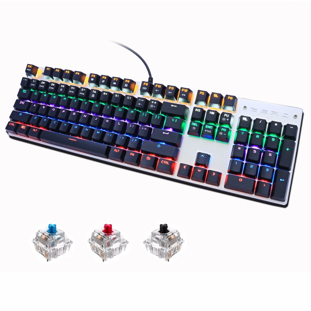Mechanische Tastatur von Metoo Gaming 87/104 Anti-Ghosting Luminous - Computer-Peripheriegeräte - Foto 6