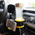 SHEATE Multiple drink bottle holder Mobile phone bracket Air vent water cup Drinks Ashtray Holders Car outlet mount accessories