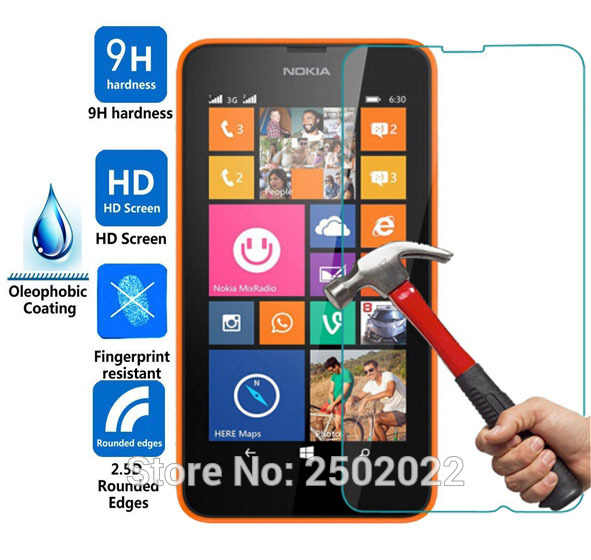 ل Lumia 630 635 المقسى زجاج عليه طبقة غشاء رقيقة ل نوكيا Lumia 630 635 N635 N630 واقي للشاشة 2.5D تقريب حافة 9 H الحرس