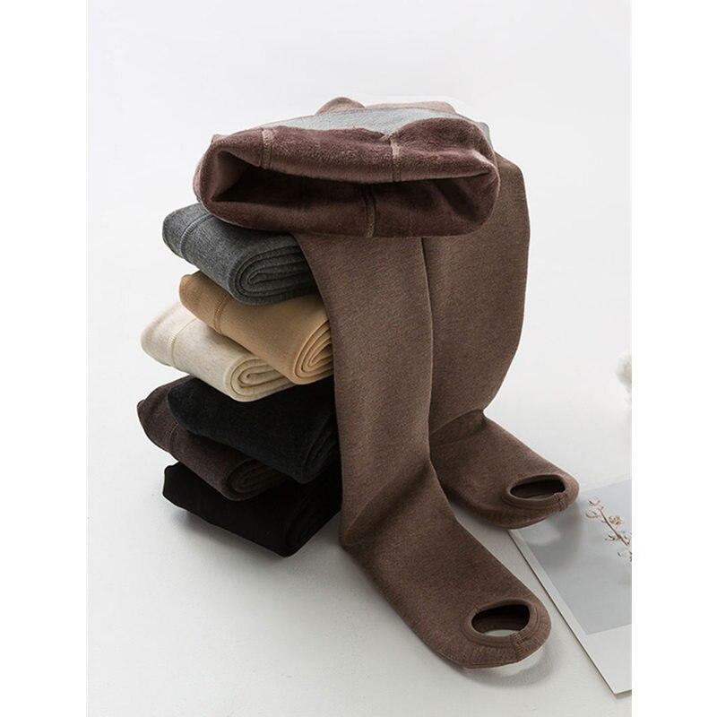 Autumn Winter High Waist Leggings Pants Women High Elasticity Plus Velvet Warm Leggings Pants High Quality Ladies Leggings Q1035