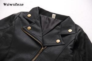 Image 5 - Waiwaibear puレザージャケットのウインドブレーカーベビージャケットショートコート服幼児春 & 秋子供のコート