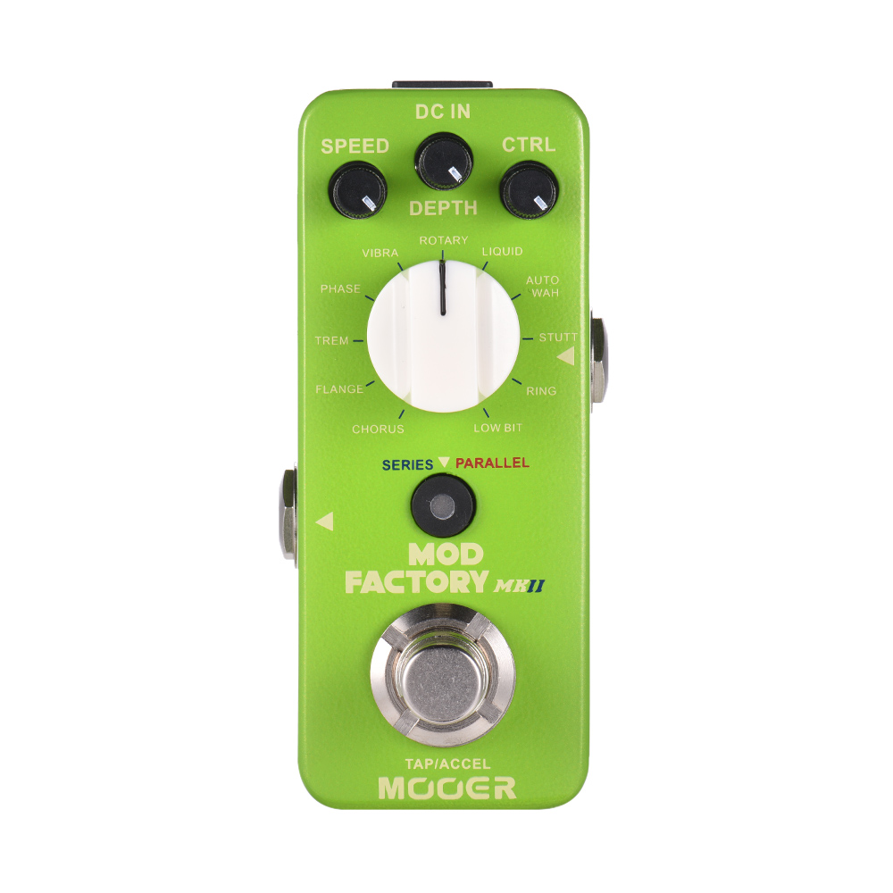 MOOER MOD FACTORY MKII Multi Modulation Effect Pedal 11 Modulation Effects Tap Tempo True Bypass Full
