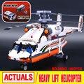 Grupo Lepin 20002 serie técnica mecánica alta bloques de montaje juguetes bloques de construcción de helicópteros de carga Compatible Con Legoed 4205