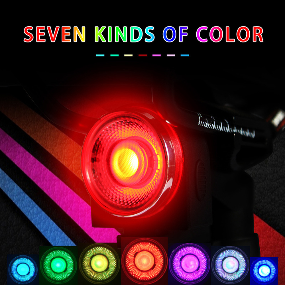 ANTUSI AO Bike Tail Light USB Rechargeable 7 Color Bicycle Rear Waterproof Cycling Taillight Led Warning Safety Lumen Lamp