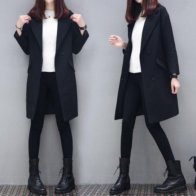 Women Blazers And Jackets Spring Long Blazer Feminino Manga Longa Full Sleeve Black Blazer Women Hot Sale Loose Blaser Plus Size