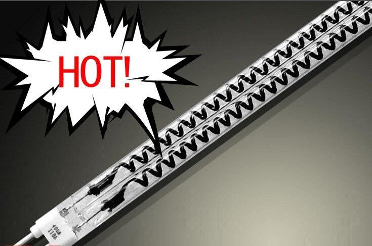 HOT ! Carbon fiber Quartz glass infrared electric heater lamp 1000w manufacturer