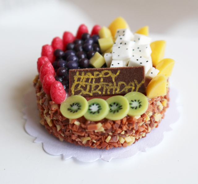 2015 New 118 Hand Made Clunch Fruits Mousse Birthday Cake Colorful 112